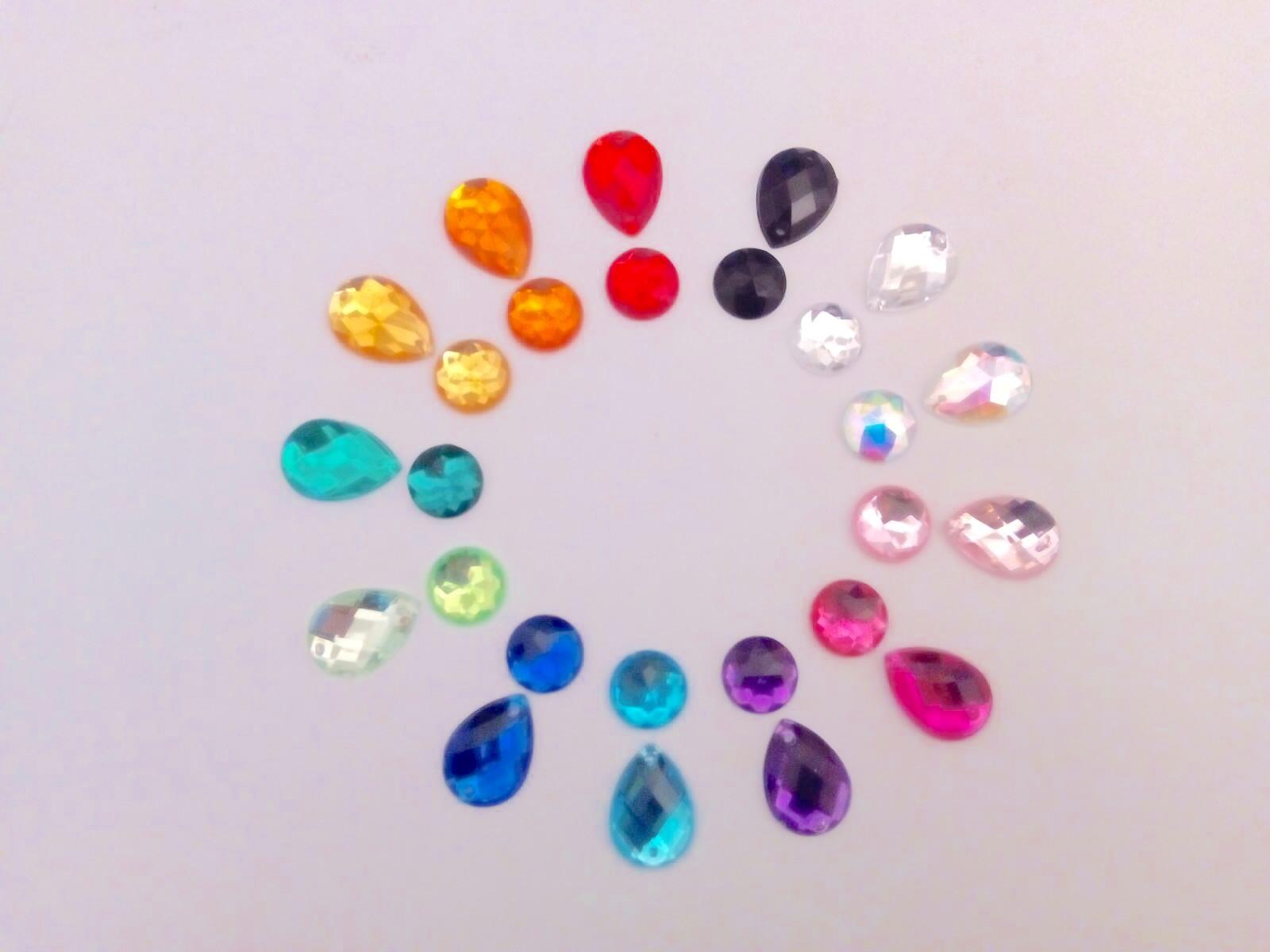 336b63f2682b Piedras acrílicas planas - Glitterandgo
